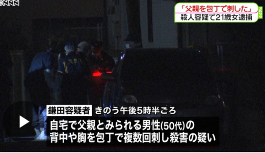 父親から死ねと言われていた。逮捕された世田谷の21歳女性、父親から虐待の可能性も!