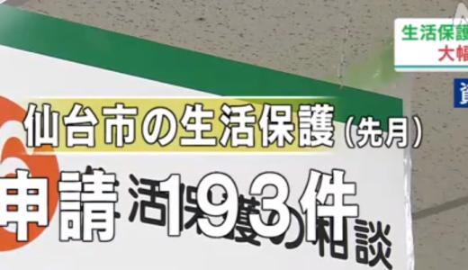 仙台市の生活保護申請が40%増!佐賀市では相談60%増!受給者は更に増える可能性も。