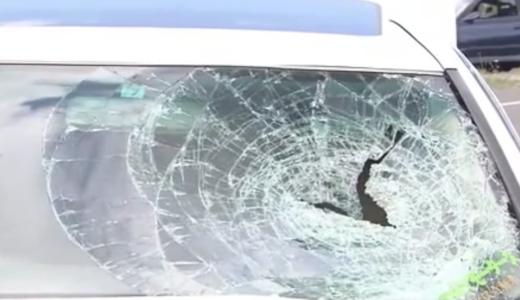 江別市の会社員 「西口翼」白いクラウンで70代の女性をはね死亡させる。割れた窓ガラスと血のついたバンパーが痛々しい。