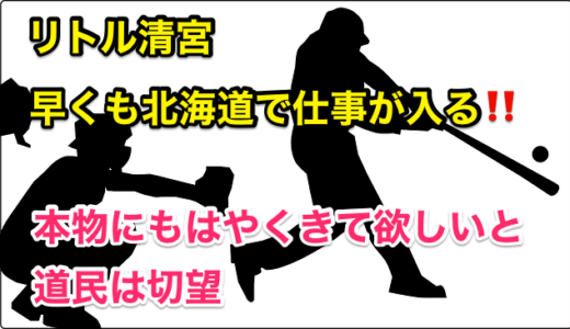 『リトル清宮』早くも北海道で仕事が入る‼️木田GM補佐のそっくりさんまでいるの⁉︎