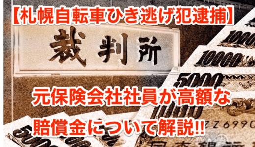 【札幌自転車ひき逃犯逮捕】元保険会社社員が解説する高額な賠償金‼︎