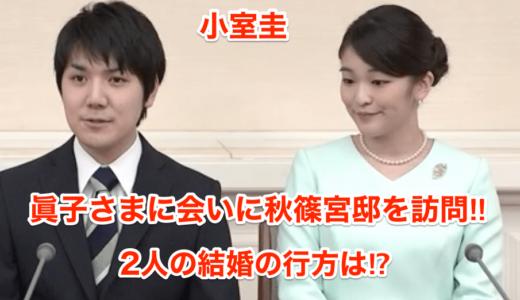 【小室圭】眞子さまに会いに秋篠宮邸を訪問‼︎2人の結婚の行方は⁉︎