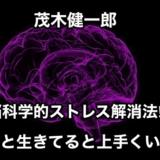 【茂木健一郎】脳科学的ストレス解消法‼︎ボーと生きてると上手くいく⁉︎